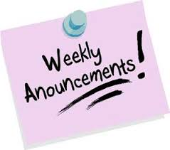 Weekly EBW Announcements